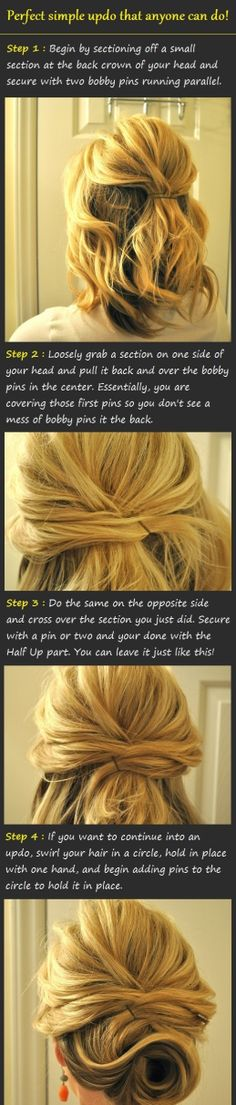 diy hairstyle hair bun
