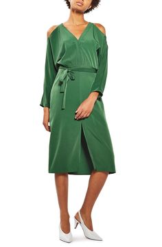 Topshop Maternity Leopard Bodycon Dress in Green | Lyst