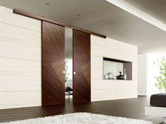 Puerta corredera madera guías vistas