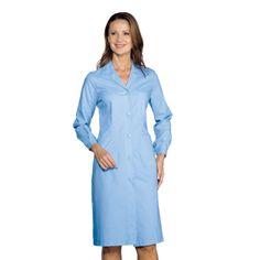 Blouse Médicale Manches Longues Femme Bleu