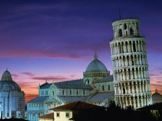 Leaning Tower, Duomo and Baptistery, Pisa, Italy: these images are part of our Free Wallpaper and Free Screensavers