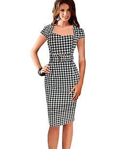 24 times black and white is cool Cute Dresses, Dresses For Work, Dress Outfits, Fashion Dresses, Vintage Dresses Online, Professional Outfits, Work Attire, Mode Style, Couture Fashion