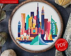 Dubai Cross Stitch Pattern for Instant Download - 139| Easy Cross Stitch| Counted Cross Stitch|Embroidery Design| City Cross Stitch
