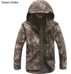 Military Style Scale Camouflage Jacket with Fleece Liner