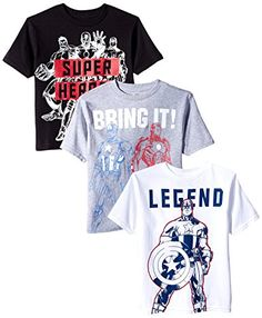 MARVEL LITTLE BOYS AVENGER TEE, MULTI COLORED ARE GREAT TEE SHIRTS. YOUR LITTLE MAN WILL LIKE THESE GREAT MARVEL AVENGER TEE SHIRTS. THESE WOULD BE FABULOUS WITH JEANS, KHAKIS, AND SHORTS. SO GIVE THE GIFT THAT THE BOYS WILL LOVE.