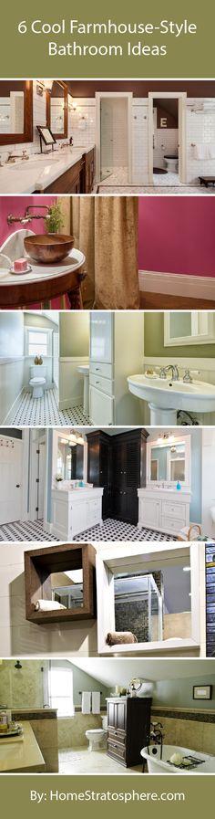 6 Cool Farmhouse-Style Bathroom Ideas