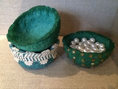 If you love to make recycled crafts or simply want to save some money, consider creating these Recycled Egg Carton Bowls. These bowls are tiny, so you can use them to store small items like jewelry and buttons.