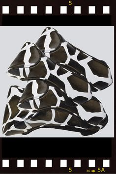 Protect your golf club with Cutler Bags Monroe Giraffe Head Covers!! . Set of 4 (1-3-5-X), Constructed with lightweight yet durable PVC for easy cleaning.