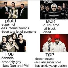 tag urself im mcr<<< I'm a mixture of FOB and TØP but I'm not gay so yeah