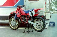 David Bailey's 1986 Factory Honda CR250R by teyblyy, via Flickr