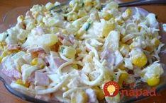 Fantastický vrstvený šalát z ktorého zaručene nepriberiete: Najlepšia náhrada za ťažké zemiakové šaláty! Pasta Salad, Grains, Salads, Food And Drink, Rice, Ethnic Recipes, Pineapple, Cold Noodle Salads, Salad