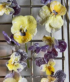 Pick colourful blooms to create candied flowers