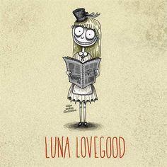 Tim Burton styled Luna Lovegood