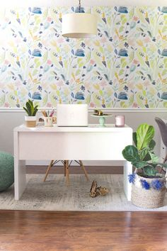 Light and Bright Home Office Reveal - Budget Decorating Tips for a Home Office