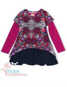 Pezzo Doro Kleid Lagenlook - black pink