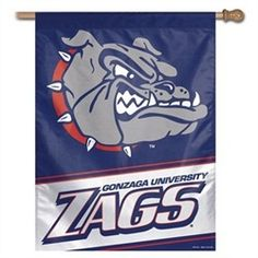 Gonzaga Bulldogs Flag - Vertical 27X37 Outdoor House Flag