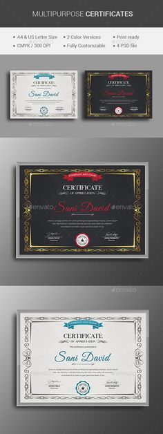 13  best Certificate Template Design images on Pinterest in 2018     Multipurpose Certificate by themedevisers Modern Certificate Template  Use  this Certificate Template in your business  company or institution in  completion