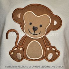 MCA Monkey embroidery machine file $3.50