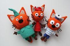 Crochet patterns cat kittens New Ideas Amigurumi Doll Pattern, Crochet Cat Pattern, Crochet Patterns Amigurumi, Crochet Gifts, Crochet Baby, Granny Square Quilt, Crochet Shawl Free, Art Japonais, Crochet Doll Clothes