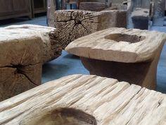Vecchi mortai legno