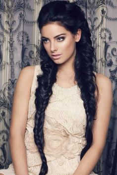 Long and thick fishtail braids.