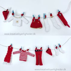 Nissetøj – dreng og pige – Kreative Løyerligheder Christmas Baby, Christmas Crafts, Christmas Decorations, Xmas, Christmas Ornaments, Holiday Decor, Crochet Gifts, Crochet Toys, Knit Crochet