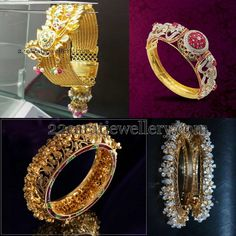 Jewellery Designs: Bangles in Antique and Diamonds