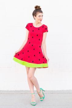 DIY Watermelon Costume   studiodiy.com