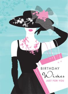 Debbie Edwards - Female Birthday Wife Mothers Day Lady In Black Dress And Shopping Bags
