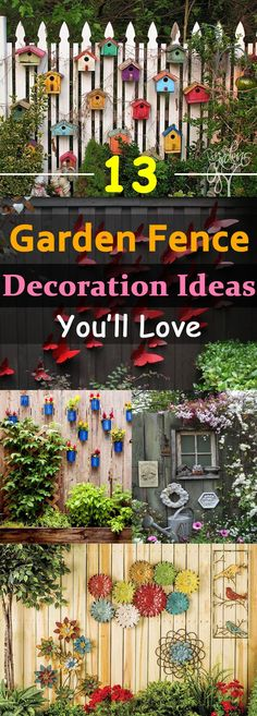 garten dekoration You can beautify your garden by customizing your garden fences, here weve 13 garden fence decoration ideas for you to . Backyard Fences, Backyard Landscaping, Fence Garden, Landscaping Ideas, Backyard Ideas, Patio Ideas, Landscaping Software, Garden Web, Diy Fence