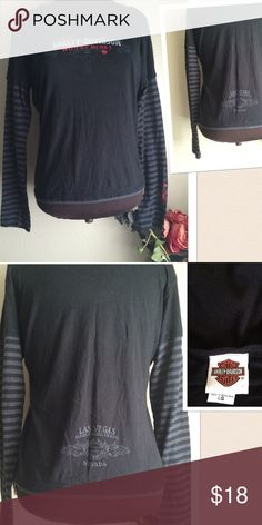 Harley Davidson Shirt PLEASE READ❌Final Price❌ Harley Davidson Women's Wild At Heart T-shirt. Las Vegas Nevada. Size: Large. Gently Preowned. If this condition is not right for you do not purchase. Cheers from Denver Boutique 🍸🍸🍸 Harley-Davidson Tops Tees - Short Sleeve