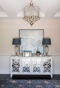 Check out this list of 23 amazing rooms that feature art deco furniture in their interior design styling Decor, Interior, Foyer Decorating, Hamptons Decor, Living Room Decor, Home Decor, House Interior, Living Decor, House And Home Magazine
