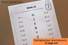 Multiply 2's Worksheet