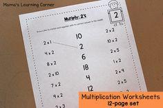 Multiply 2's Worksheet