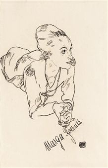 DIE SCHAUSPIELERIN MARGA BOERNER (THE ACTRESS MARGA BOERNER) By Egon Schiele