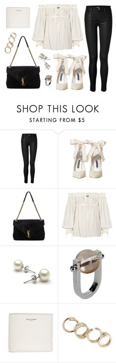 """Untitled #21593"" by florencia95 ❤ liked on Polyvore featuring J Brand, Alice + Olivia, Yves Saint Laurent, Alexander McQueen and Jil Sander"