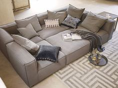 """UNLIMITED FURNITURE GROUP on Instagram: """"The Nuzzle Modular Pit perfect for cuddling and binge watching your favorite shows. For more information about pricing and custom options…"""" Pit Couch, Large Sectional Sofa, Living Room Sectional, Home Living Room, Living Room Furniture, Fireplace Furniture, Pallet Furniture, Furniture Ideas, Living Spaces"""