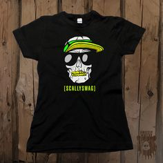 """Scallyswag Skallywag Skull"" Women's Graphic Tee from Grizzly Where"