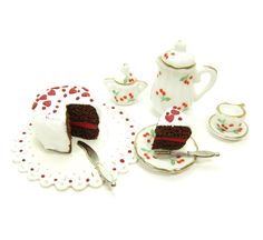 Dollhouse Miniature Valentine's Day Cake