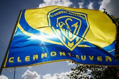 An ASM Clermont Auvergne flag