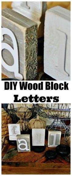 Easy DIY Fall Wood Block Letters