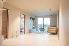 Singelfamily house Built: 2016 Architect: Marita Hamre Tiles: Terra Maastricht, Mosa tiles Furniture: Kielland AS House Built, Lighting Design, Tiles, Divider, House Ideas, Building, Room, Furniture, Home Decor