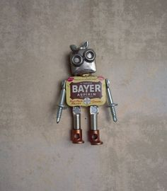 Bayer the Bitty Bot by FairyJunkMother on Etsy