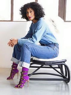 Tracie Ellie Ross. Love this look