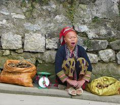 Slow business day in Sapa, Vietnam