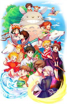 This is just so beautiful ▪️ ▪️ ▪️[If you not like it posted I will remove immediately] ▪️ ▪️ toroto nausica away aritey ponyo princessmononoke kikideliveryservice ghibli ghiblistudio beautifulart anime Studio Ghibli Wallpaper, Studio Ghibli Poster, Studio Ghibli Art, Studio Ghibli Movies, Chibi, Studio Ghibli Characters, Ghibli Tattoo, Japon Illustration, Otaku
