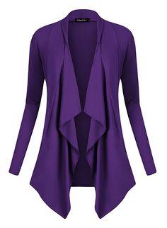 bf988baf0e556 UK Women Cardigans - Women's Drape Front Open Cardigan Long Sleeve  Irregular Hem: Amazon.co.uk: Clothing. It is an Amazon affiliate link.