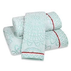 Featuring beautiful beach colors and decorated with oversized medallions, the Anthology Bungalow Bath Towel Collection will transform your bathroom setting into an inviting and hip bohemian retreat.