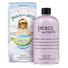 Mmm, who doesn't love the feeling of taking a hot bath and melting all of the day's stress away? Peace On Earth philosophy Bubble Bath for a spa-like experience. Filled with everything from relaxing bubble bath to detoxifying salt crystals to creamy body oil, and it is so deliciously relaxing.