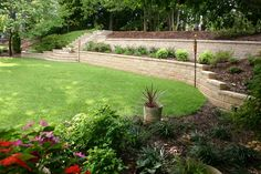 Retaining Wall by Living Spaces Home  Landscape Services.